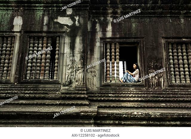 The most impressive temple of Angkor, built by the King Suryavarman II in the 12th Century dedicated to Vishnu; Siem Reap, Cambodia