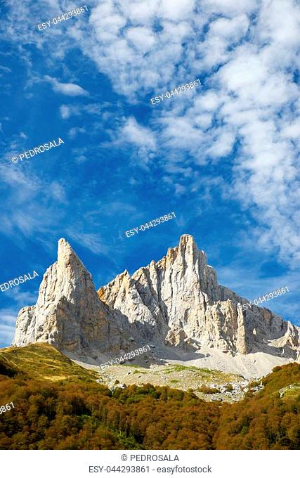 Aiguille Ansabere Peak in Lescun Cirque, Aspe Valley, Pyrenees, France