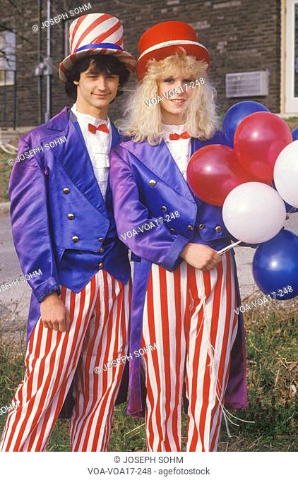 Teenagers Dressed As Uncle Sam, United States