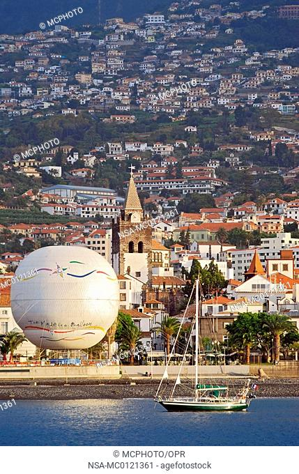 Picturesque Image Over the City of Funchal on Madeira