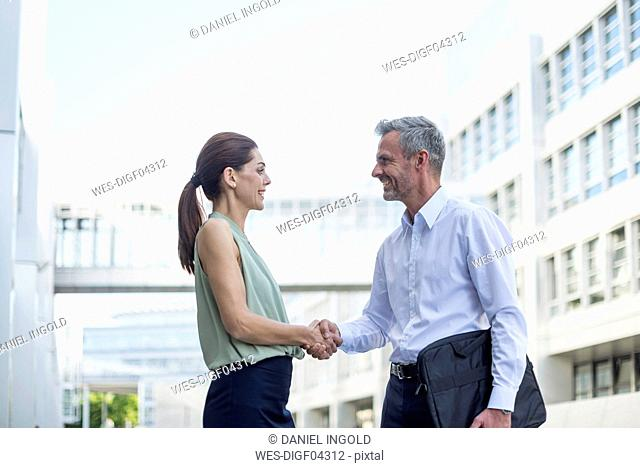 Businesspartners shaking hands
