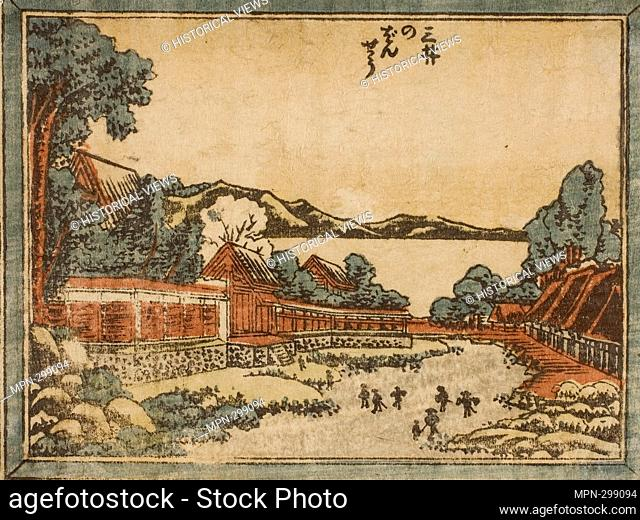 Author: Katsushika Hokusai. Evening Bell at Mii (Mii no bansho), from the series Eight Views of Omi in Etching Style (Doban Omi hakkei) - 1804 - 16 - Katsushika...