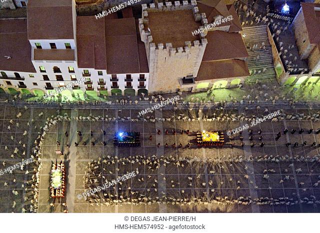 Spain, Extremadura, Caceres, old town listed as World Heritage by UNESCO, the Holy Week Museum, model of the city during the traditional festivals