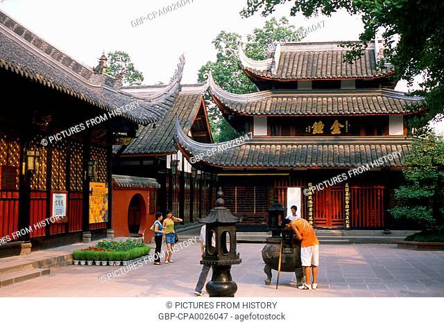 China: Wenshu Yuan (Wenshu Temple), Chengdu, Sichuan Province