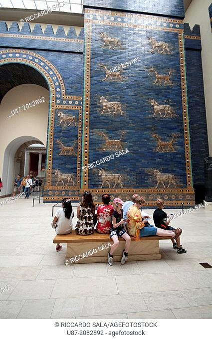 Germany, Berlin, Pergamon Museum, Ishtar Gate of the Ancient City of Babylon