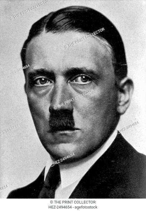 Adolf Hitler, Austrian born dictator of Nazi Germany, 1924. Hitler (1889-1945) became leader of the National Socialist German Workers (Nazi) party in 1921