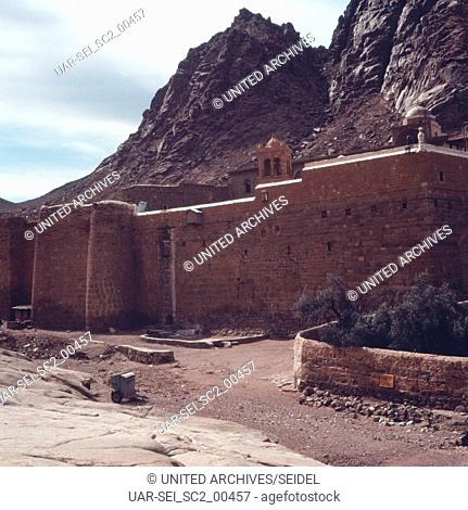 Das Katharinenkloster im Sinai, Israel 1970er Jahre. The Saint Catherine's Monastery on the Sinai Peninsula, Israel 1970s