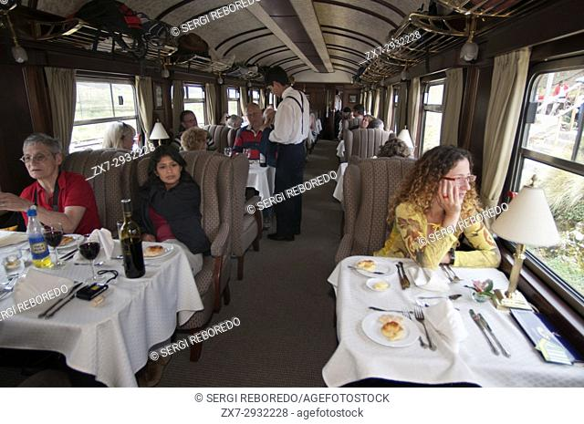 Andean Explorer, luxury train from Cusco to Puno. Train inside. Traditional food and delicacies in the Andean Explorer train Orient Express which runs between...