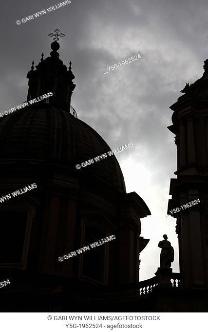 Sant'Agnese in Agone church in piazza navona square rome italy