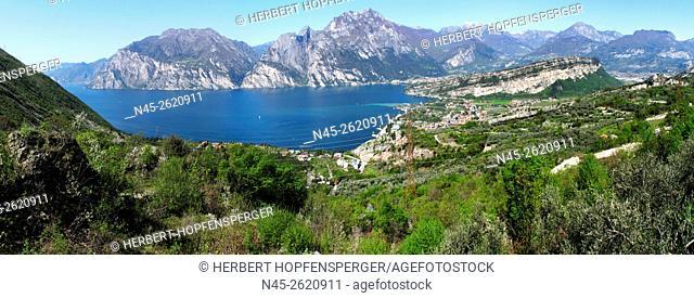 Lake Garda, Lago di Garda,View of the the Western Shore, Trentino, Italy
