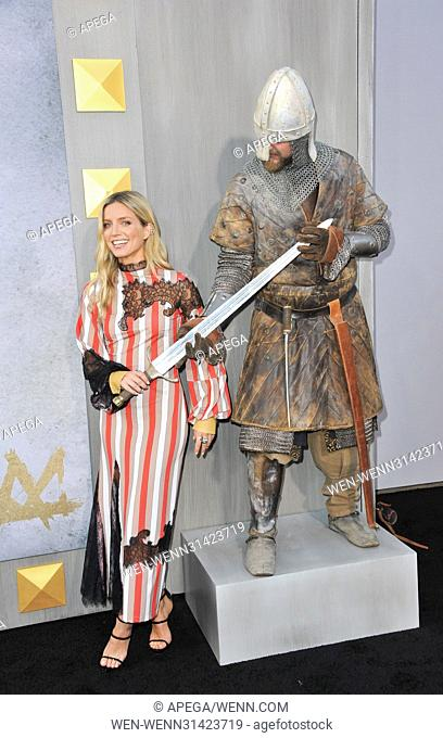 Premiere King Arthur Legend of the Sword Featuring: Annabelle Wallis Where: Los Angeles, California, United States When: 09 May 2017 Credit: Apega/WENN