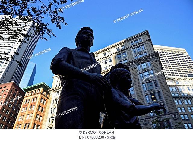 Boston Irish Famine Memorial in Downtown District