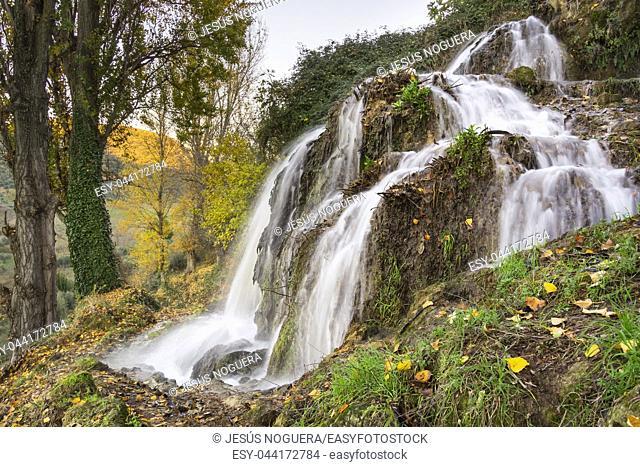 Waterfall in Cuevas de Becerro, Malaga. Spain