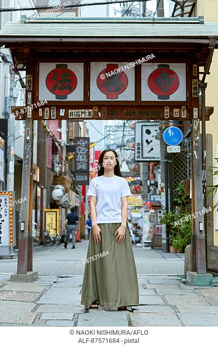 Young Japanese woman in Osaka