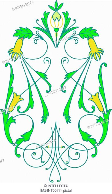 Green and blue decorative element