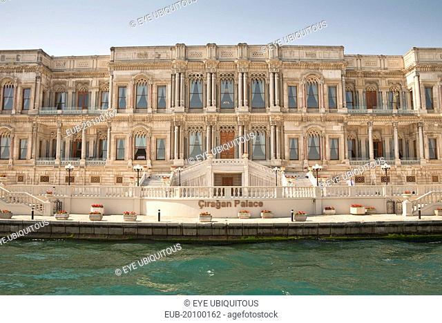Ciragan Palace now a Kempinski Hotel beside the Bosphorus