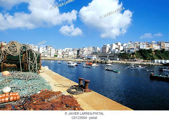 Fishing port. Malpica. Costa da Morte. La Coruña province. Galicia. Spain