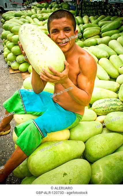 Watermelon, Fair of Banana, Center, Amazônia, Manaus, Amazonas, Brazil