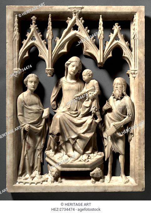 Madonna and Child with Saints Catherine and John the Baptist, c. 1340-1350. Creator: Giovanni di Agostino (Italian, c. 1310-1370)