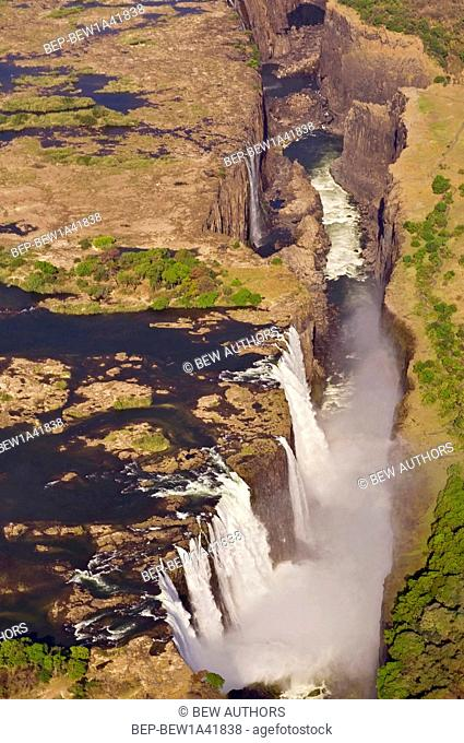 Africa, Victoria Falls, on Zambezi River between Zimbabwe and Zambia