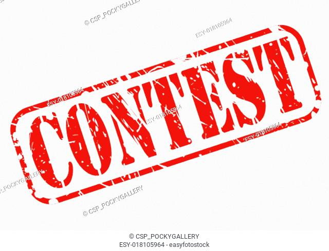 Contest red stamp text