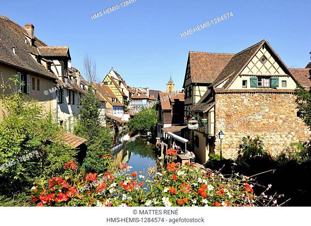 France, Haut Rhin, Alsace Wine Route, Colmar, La Petite Venise district