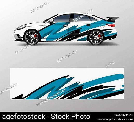 Racing car wrap design. wrap design for custom sport car