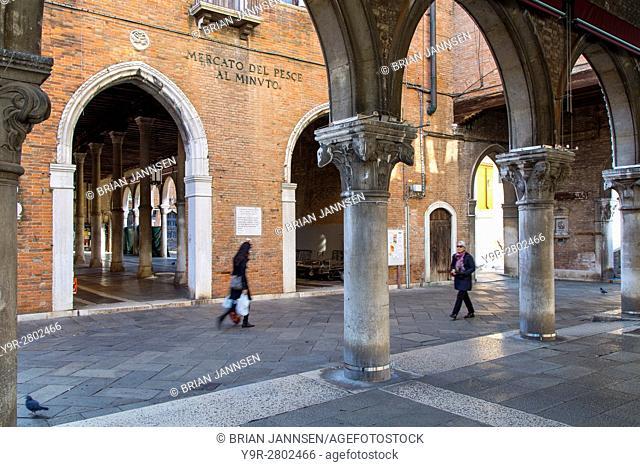 Mercato del Pesce - historic Rialto Fish Market, Venice, Veneto, Italy