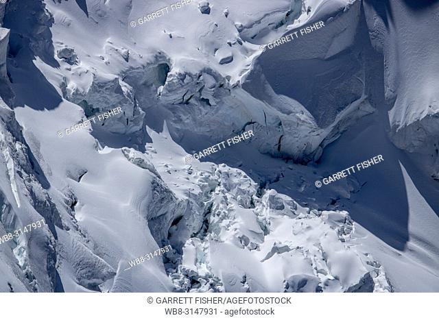 Ice Cap - Gletscherhorn - Bernese Alps, Switzerland - Aerial