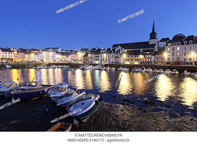 France, Morbihan, Belle Ile en Mer, Le Palais, the inner harbour
