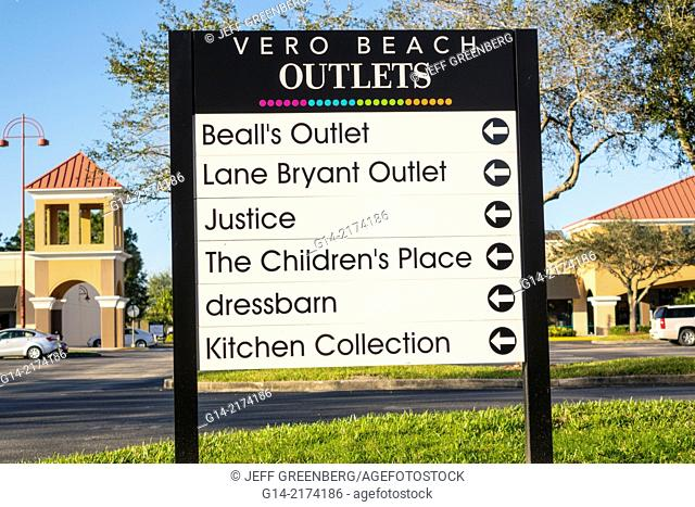 Florida, Vero Beach, Vero Beach Outlets, shopping, sign,