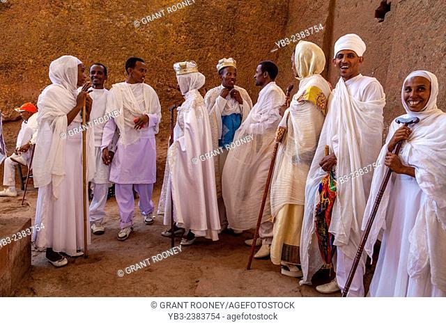 An Ethiopian Wedding, Biete Maryam (House of Miriam/House of Mary) Church, Lalibela, Ethiopia