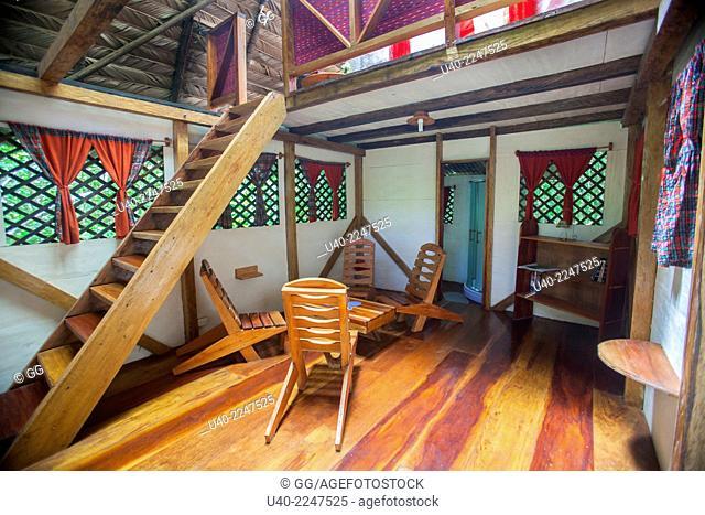 Guatemala, Rio Dulce, Finca Tatin, cabin for guests