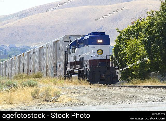 Tri-City Railroad Company train in Richland, Washington, USA