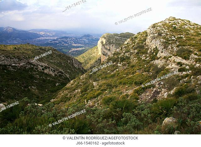 Landscape over the Montgo Natural Park. Alicante