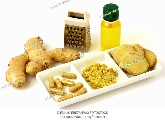 Ginger root and oil  Zingiber officinale