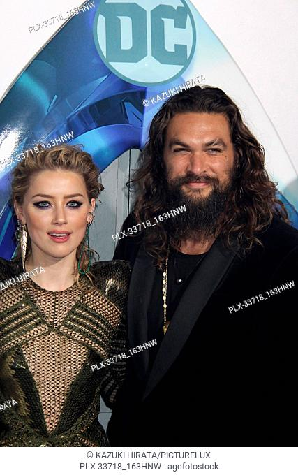 """Amber Heard, Jason Momoa 12/12/2018 """"""""Aquaman"""""""" Premiere held at the TCL Chinese Theatre in Hollywood, CA Photo by Kazuki Hirata / HNW / PictureLux"""