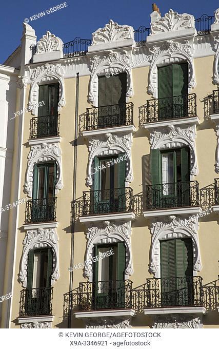 Art Deco Building, Plaza San Miguel Square, Madrid, Spain