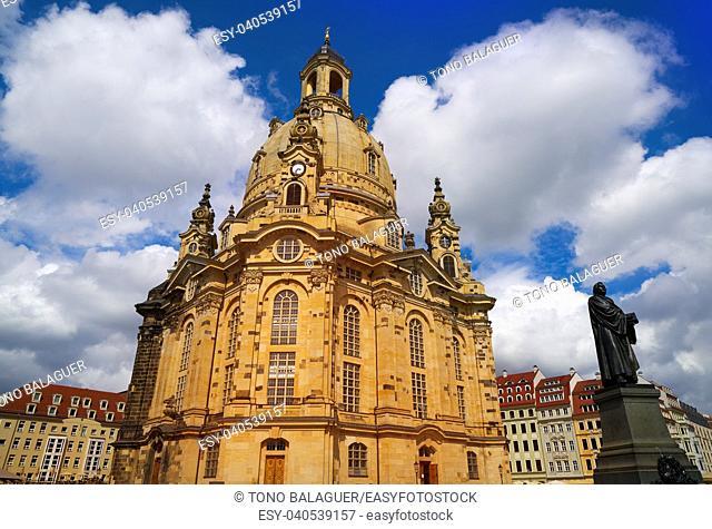 Dresden Frauenkirche Lutheran church in Saxony of Germany