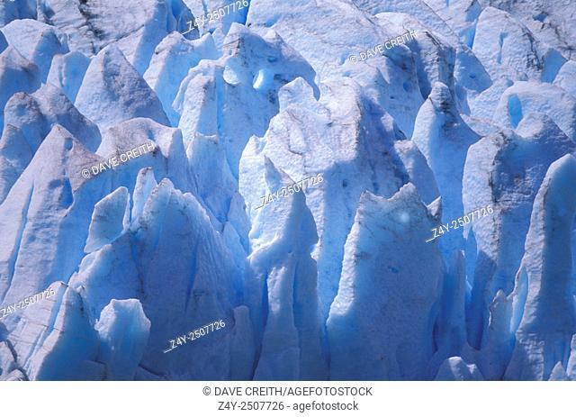 Seracs on Lowell Glacier, Kluane National Park, Yukon Territory, Canada