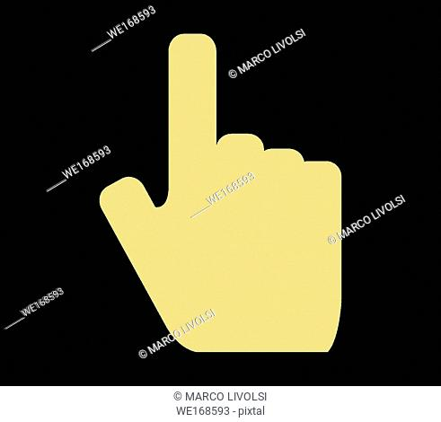 hand pointing icon