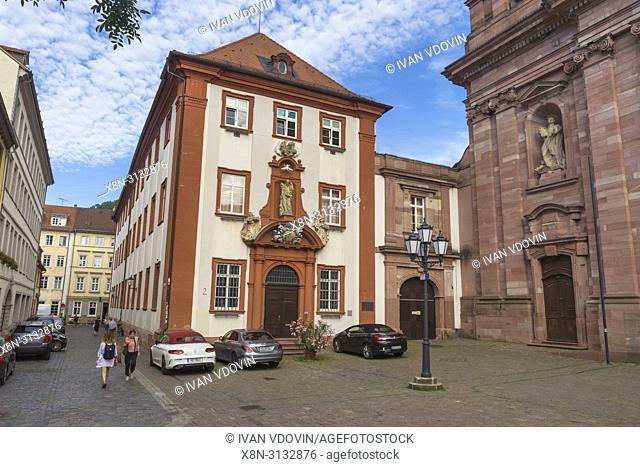 Jesuite church (1759), Heidelberg, Baden-Wurttemberg, Germany