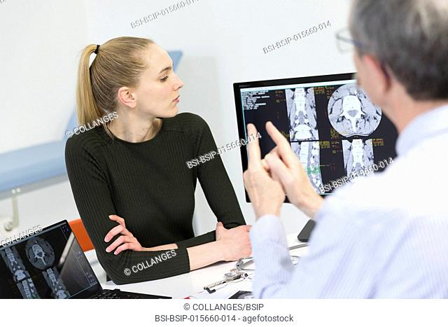 Lumbar scan with degenerative disc disease