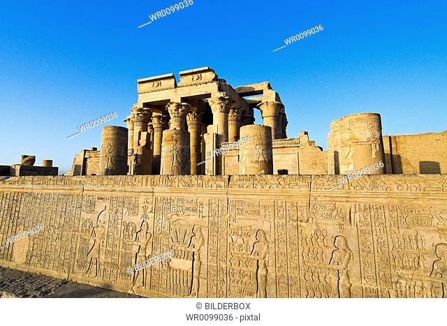 The picturesque double temple of Kom Ombo in Egypt, Africa