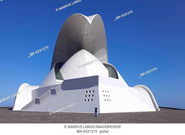 Auditorium by Santiago Calatrava, congress and concert hall, Santa Cruz Island, Tenerife, Canary Islands, Spain