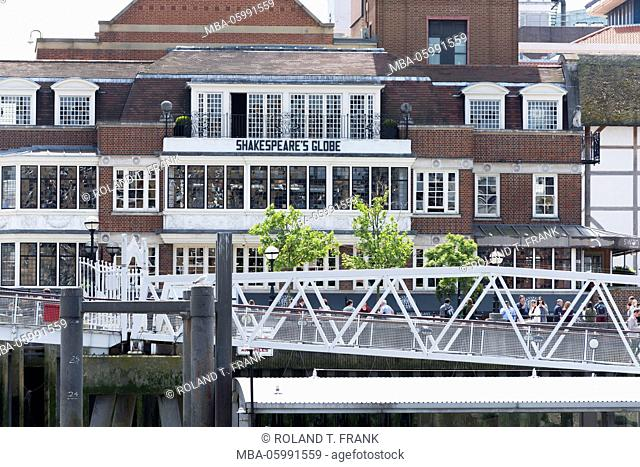 England, London, the Thames, Globe Theatre is the name of an Elizabethan theatre on the south shore of the Thames which become famous because of William's...