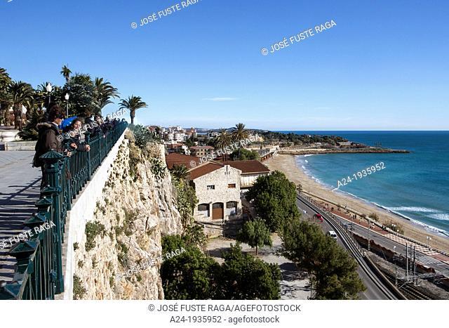 Spain , Catalunya Region , Tarragona City , Mediterranean Balcony , Milagro Beach