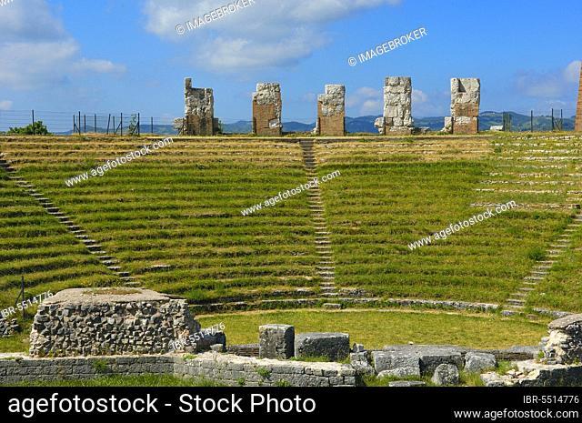 Gubbio, Roman Theater, Umbria, Italy, Europe