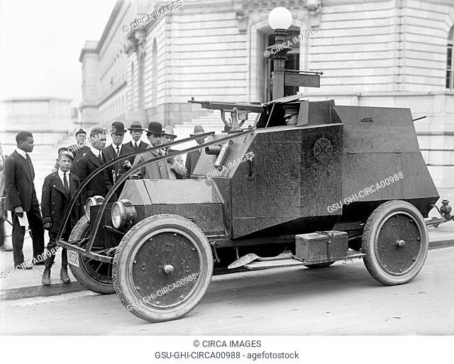U.S. Army Armored Car, Washington DC, USA, circa 1916