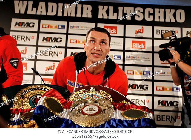 Wladimir Klitschko vs. Tony Thompson in Bern, Switzerland / Press Conference on Tuesday, 03.07.2012 at the Hotel Bellevue Palace in Bern